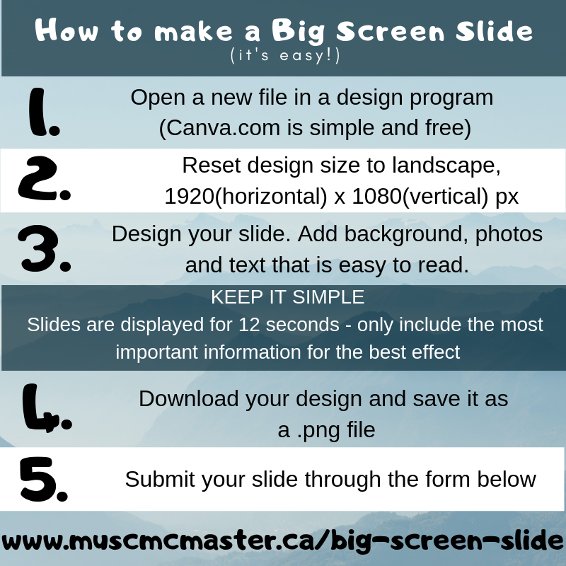 How to make a big screen slide